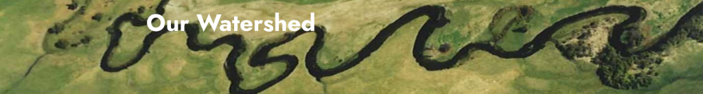 Aerial shot of Shasta River